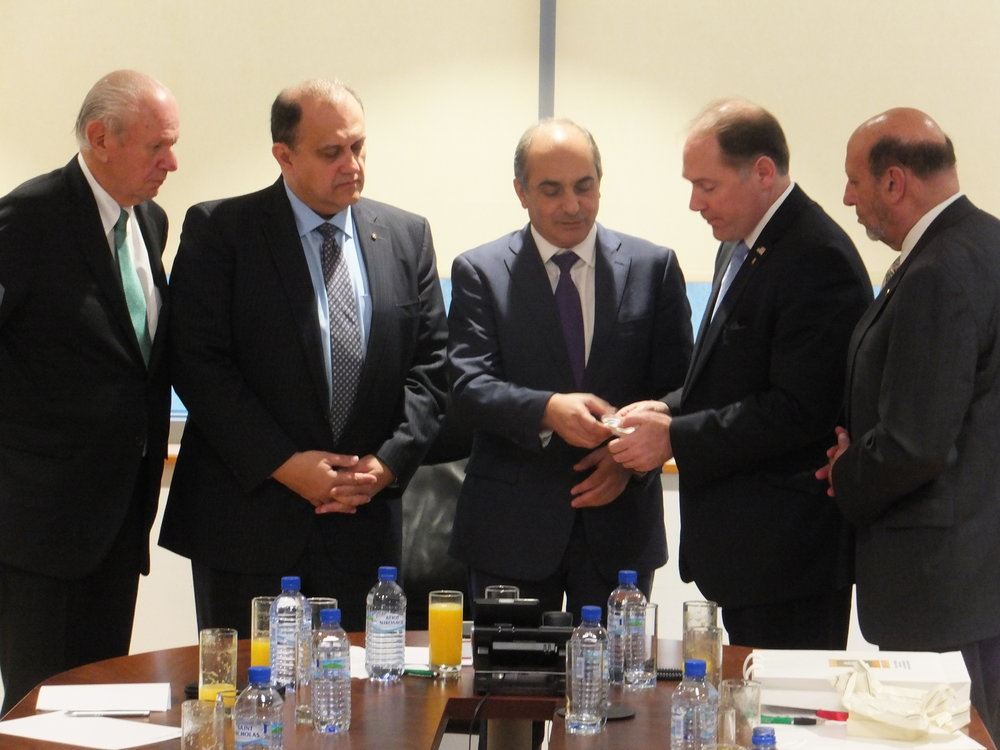 Delegation heads with President of the Cypriot House of Representatives Demetris Syllouris.