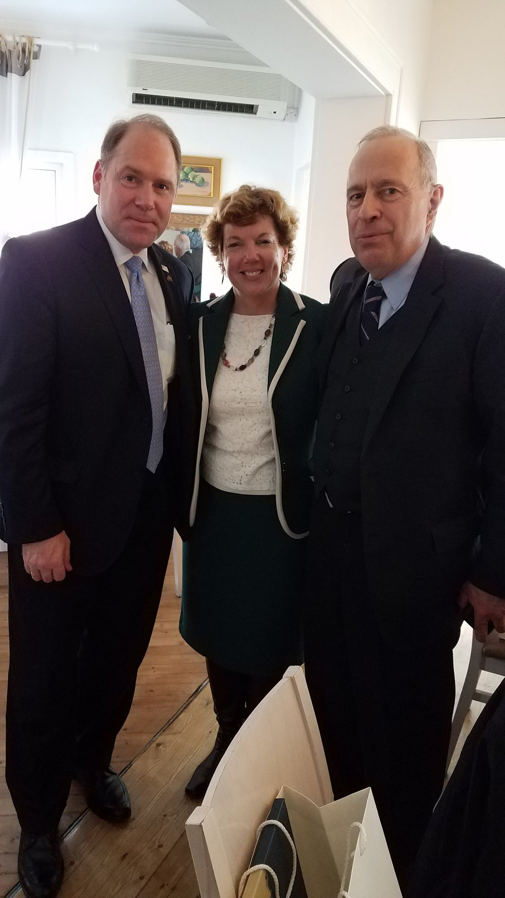 (L-R) Carl R. Hollister; U.S. Ambassador to Cyprus, Kathleen Doherty, and AHI Vice President, James Lagos.