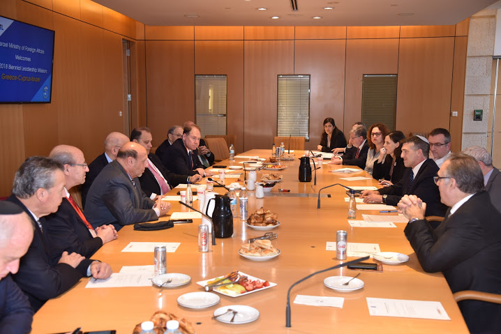 Delegation meets with Alon Ushpiz, Political Director at the Israeli Ministry of Foreign Affairs.