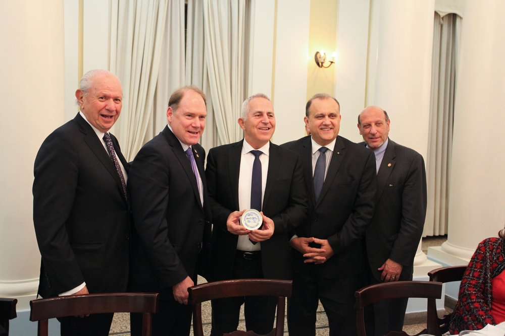 Delegation heads with Admiral Evangelos Apostolakis, Chief of the Hellenic National Defense General Staff.