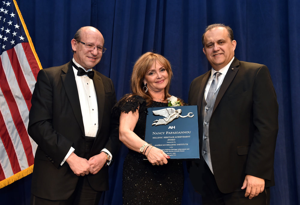 Nancy Papaioannou receives the AHI Hellenic Heritage Achievement Award.