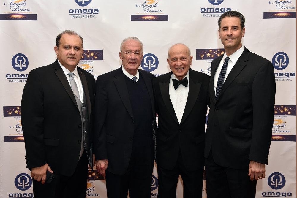 Nick Larigakis, Senator Paul Sarbanes, Eugene Rossides, and Congressman John Sarbanes.