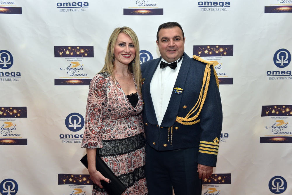 Colonel Stefanos Ampouleris, Air Attache, Greek Embassy to the U.S. and his wife.