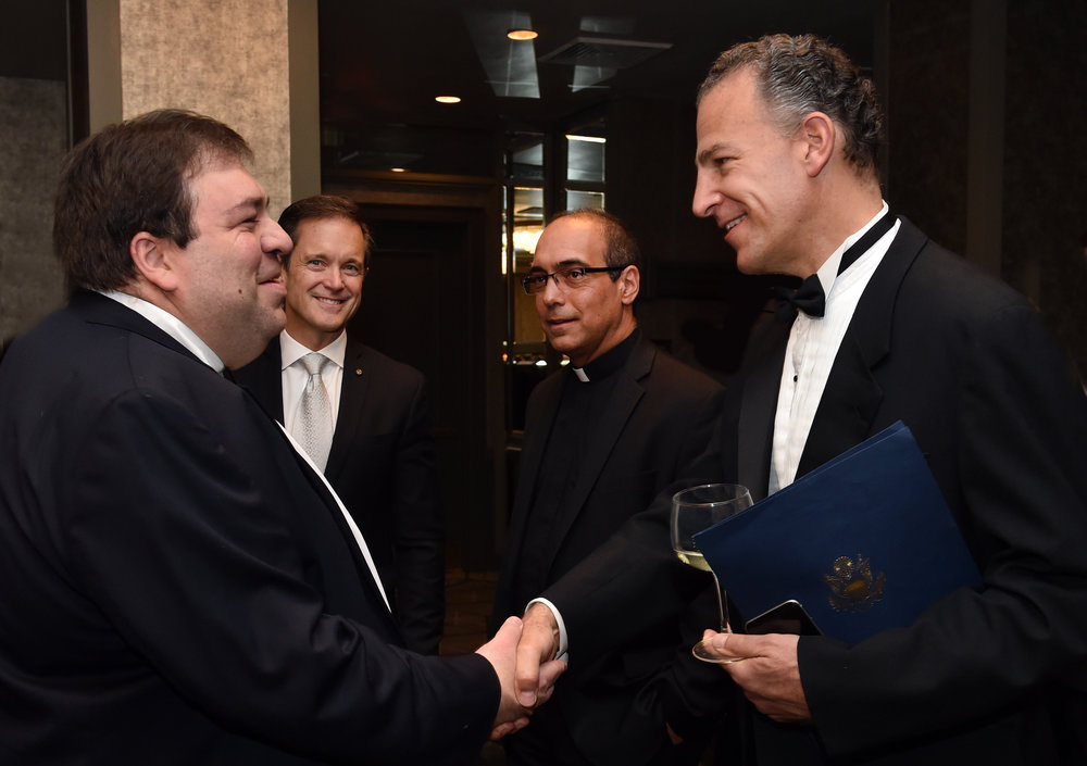 Charge d'affaires Andres Nikolaides, Embassy of the Republic of Cyprus to the U.S. and Deputy Assistant Secretary Jonathan Cohen.