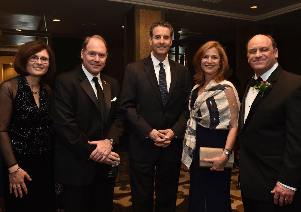 (L-R) Mrs. & Mr. Hollister, Congressman John Sarbanes, Mrs. & Mr. Tassopoulos.