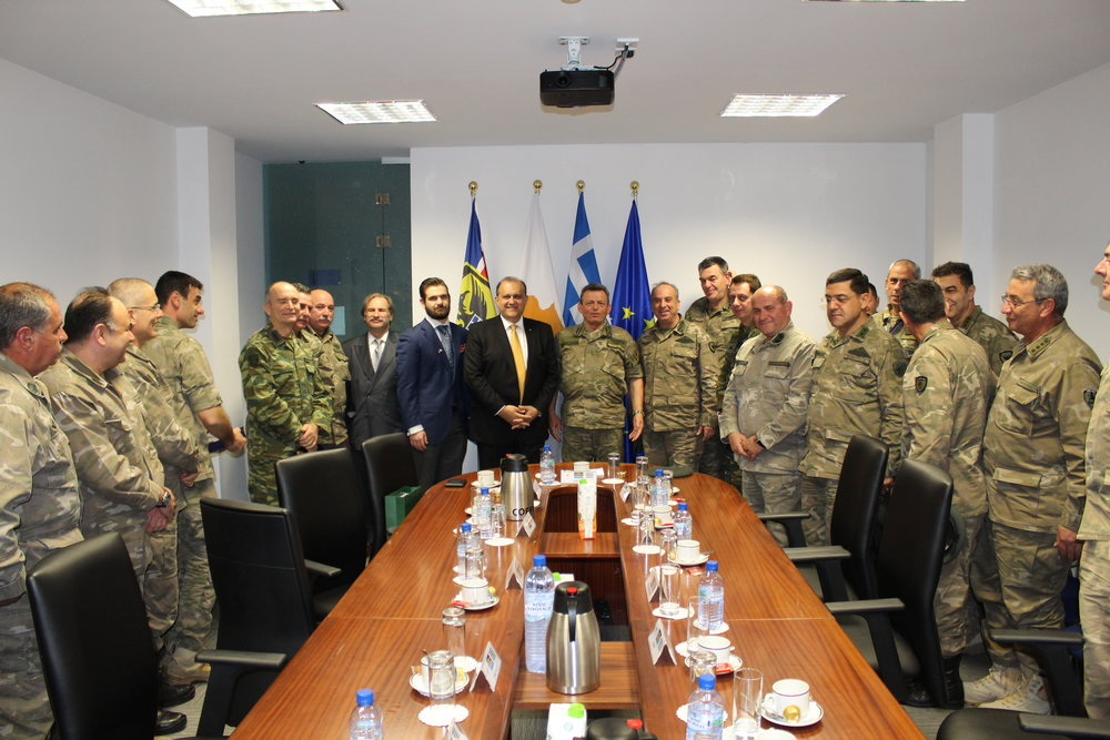 AHI hosted by Lt. Gen. Ilias A. Leontaris, Chief of the Cypriot National Guard.