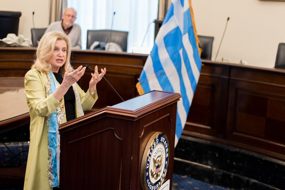 Rep. Carolyn Maloney, Co-Chair of the Hellenic Caucus.
