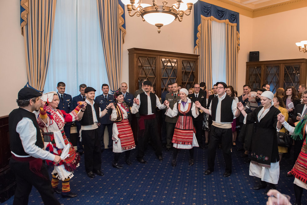 Byzantio Greek Dance and Cultural Arts Program performs traditional Greek dances.