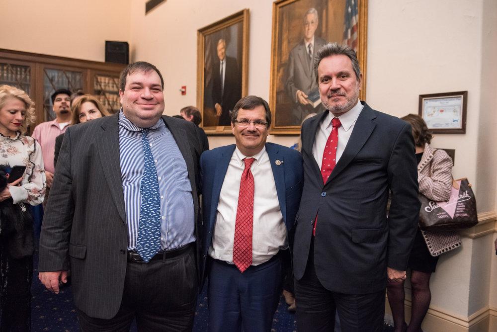 Andreas Nikolaides, Rep. Gus Bilirakis, and Amb. Haris Lalacos.