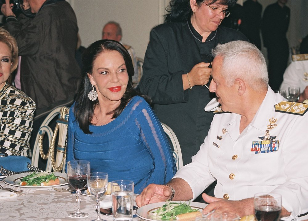 Mrs. Katerina Panagopoulos and Admiral Apostolakis.