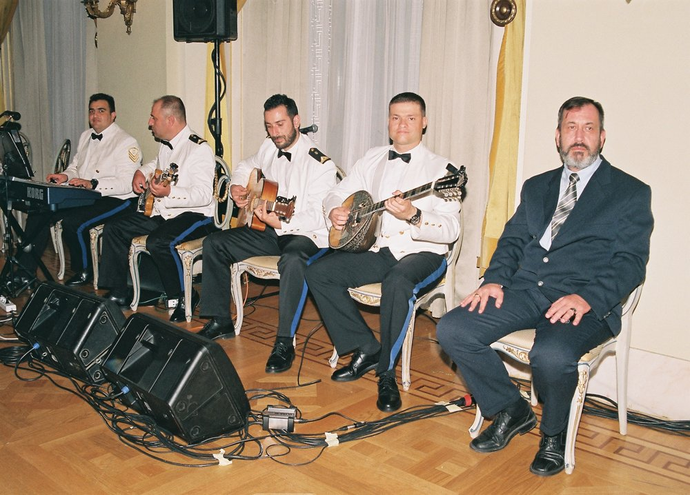 The Light Orchestra of the Hellenic Navy Band, led by Lieutenant Commander Georgios Tsilbaris.