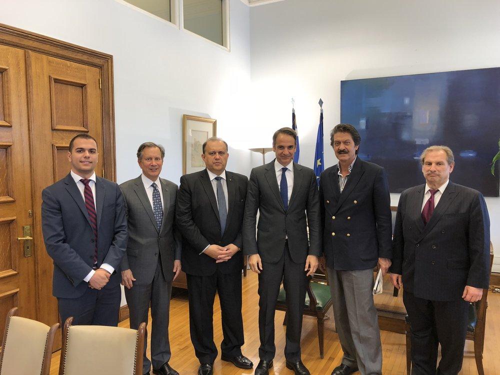 AHI Delegation with Mr. Kyriakos Mitsotakis, President of New Democracy.