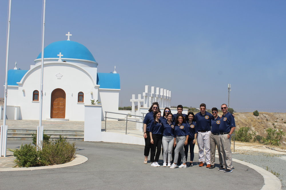 Church at Evangelos Florakis Naval Base, Mari, Cyprus commemorating a tragic explosion that took the lives of 12 people in 2011.