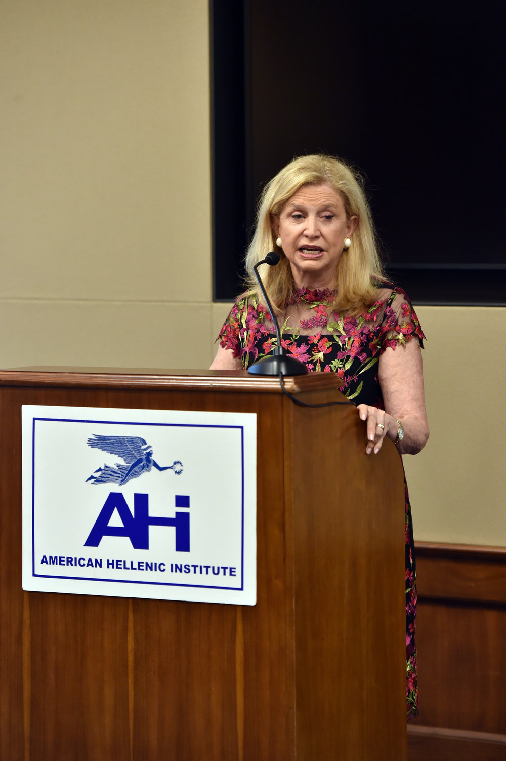 Rep. Carolyn Maloney (D-NY), Co-Chair of the Hellenic Caucus
