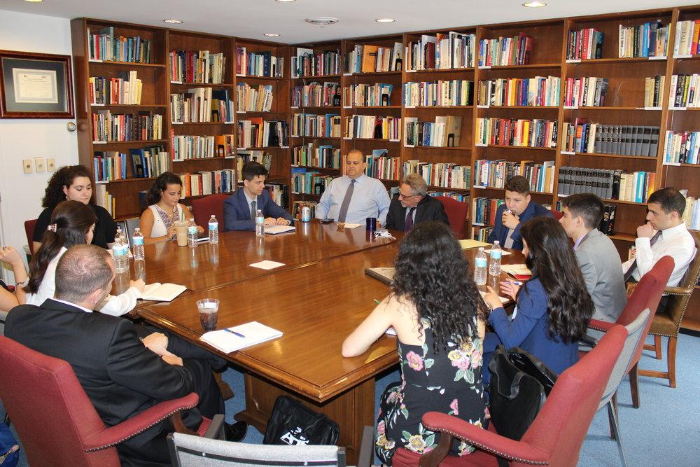 Briefing by Amb. Patrick Theros, former U.S. Ambassador to Qatar.