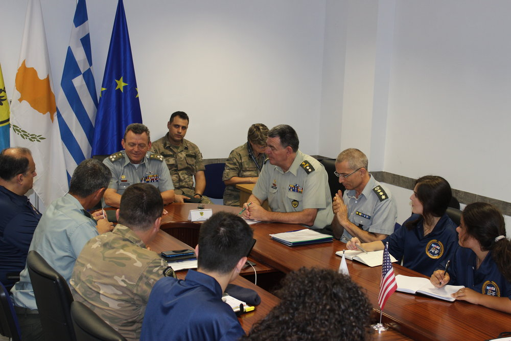 Briefing by Lt. General Ilias Leontaris, Chief of the Cypriot National Guard.