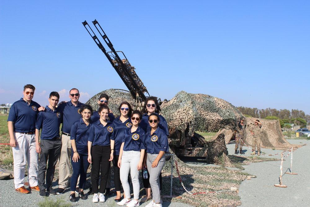 """AHI student participants at """"Andreas Papandreou"""" Air Base."""