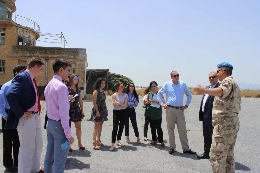 Tour of Old Nicosia Airport by UNFICY Officer Peter Vanek.