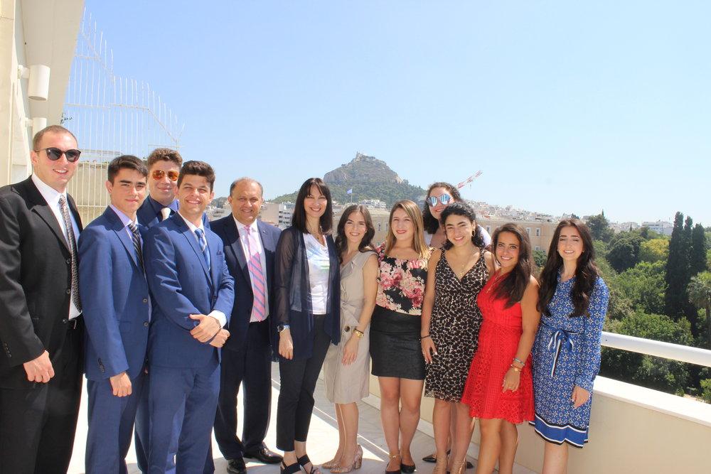 Meeting with Elena Kountoura, Greek Minister of Tourism.