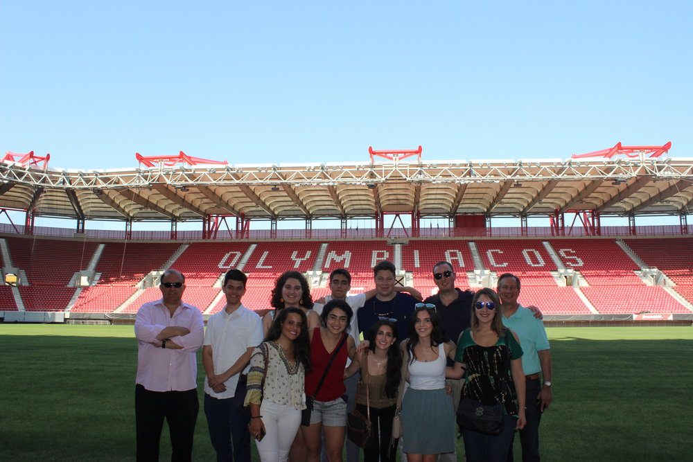 Tour of Karaiskakis Stadium, home of Olympiacos FC.