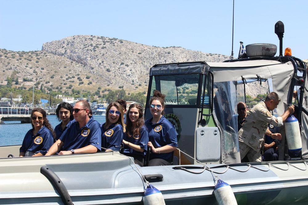 Students on a Fast Patrol Boat class  Vasper .