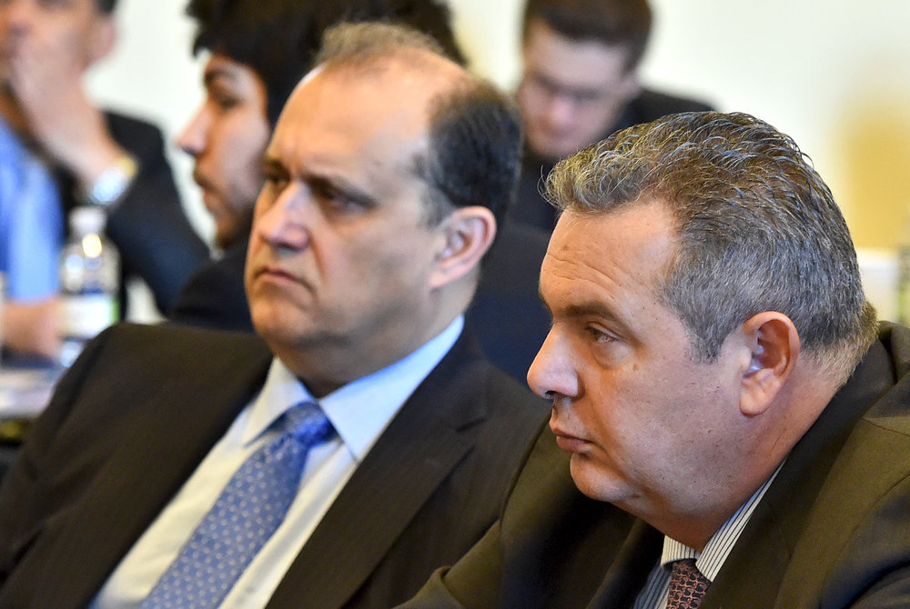 Nick Larigakis and Greek Defense Minister Panos Kammenos