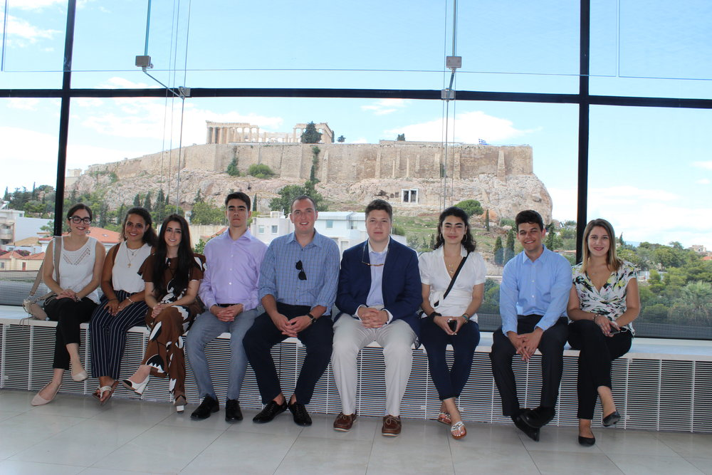 Students visit the Acropolis Museum.