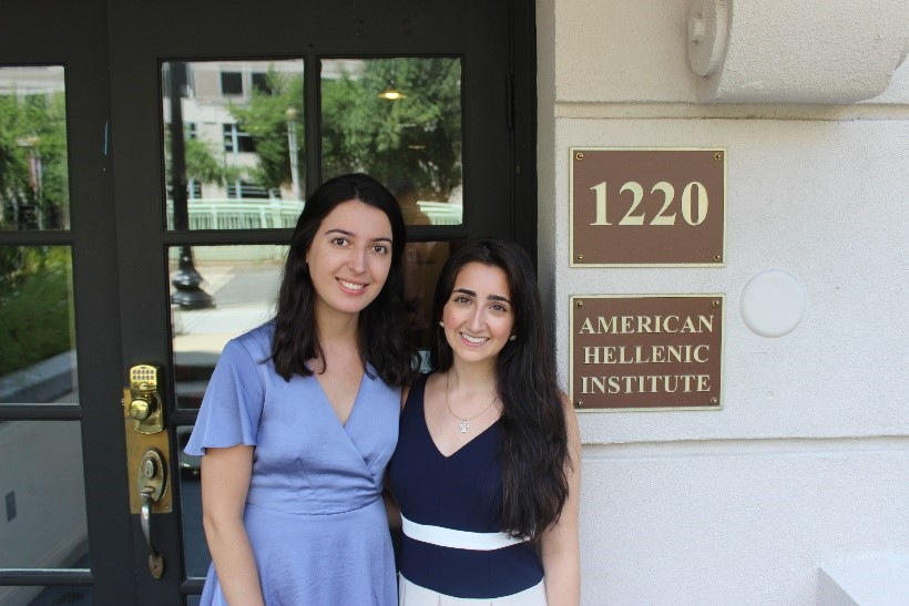AHI summer 2018 interns: Alexandra Choate (left) and Alexis Tsapralis (right)