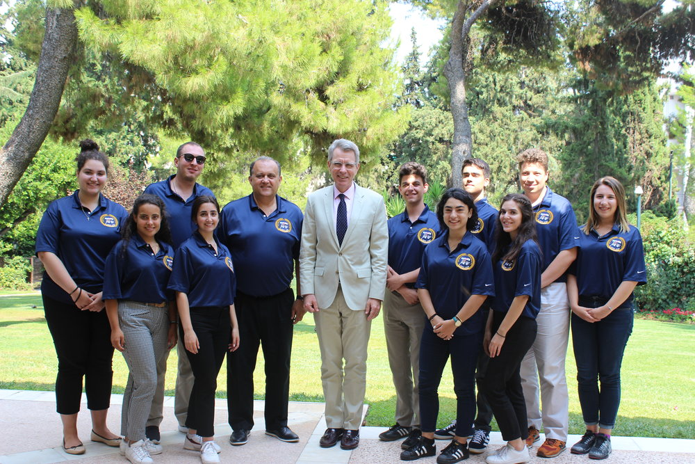 Meeting with U.S. Ambassador to Greece, Geoffrey Pyatt at the Ambassador's residence in Athens.
