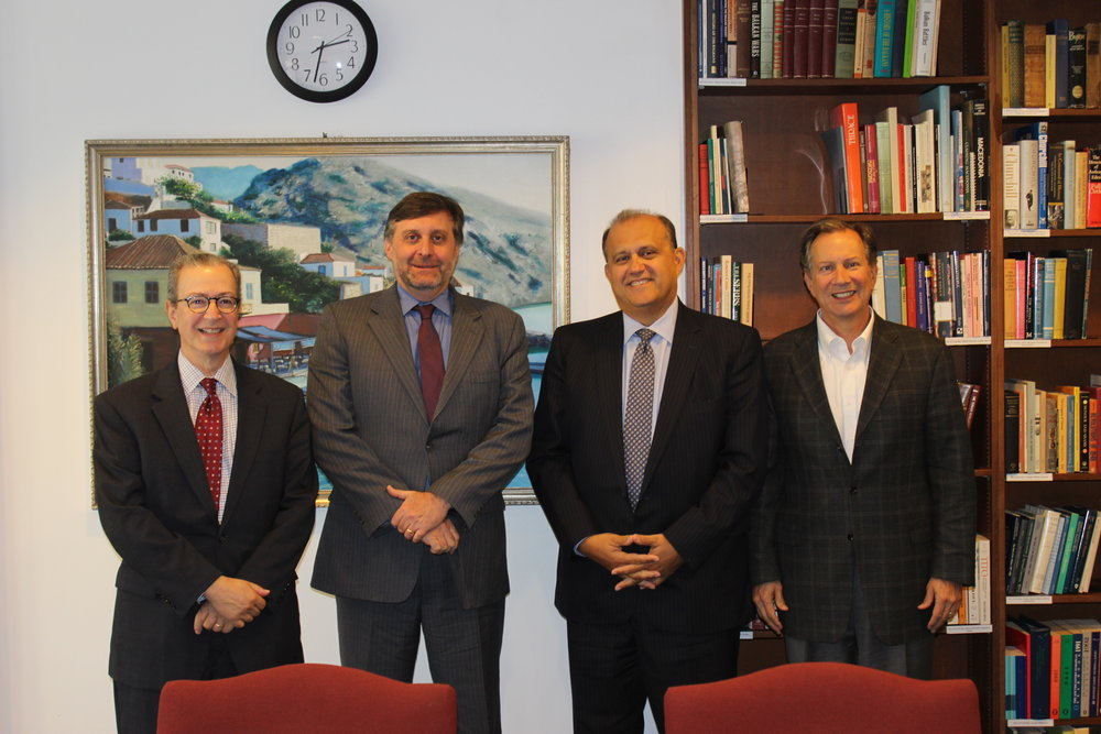 (L-R) James Marketos, AHI Board Member; Matthew Palmer, Deputy Assistant Secretary of State for European and Eurasian Affairs; Nick Larigakis, AHI President; Leon Andris, AHI Board Member.