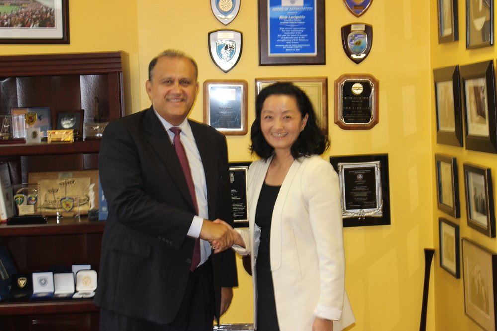 Nick Larigakis with Yuri Kim, director, Officer of Southern European Affairs, State Department.