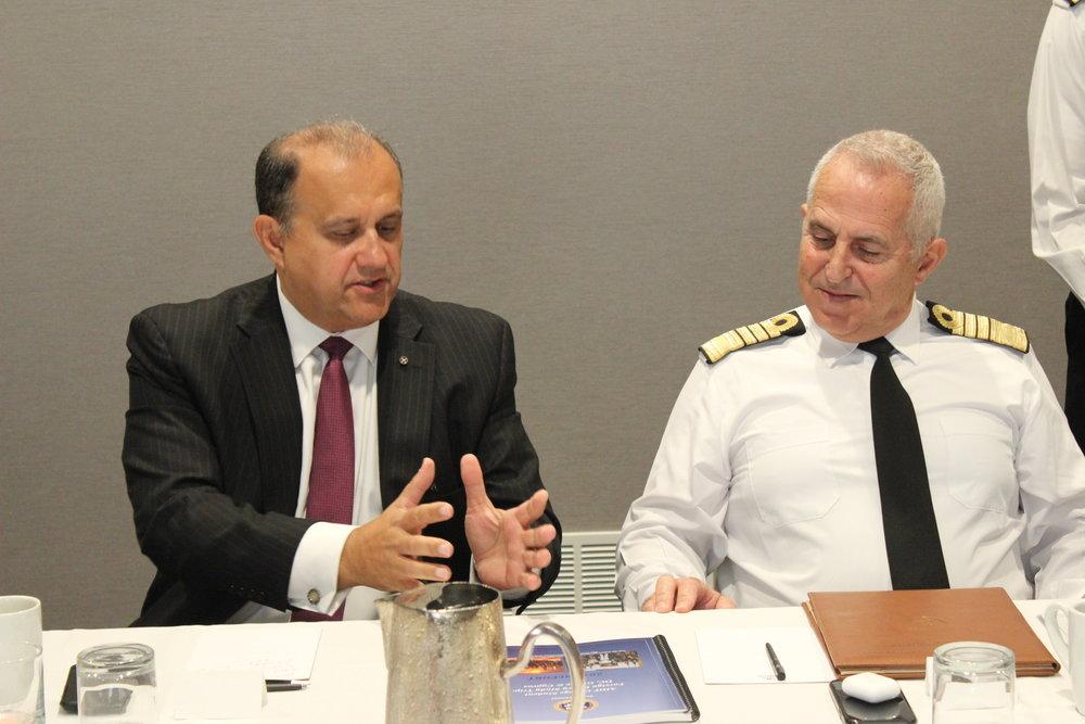 Nick Larigakis & Admiral Evangelos Apostolakis.