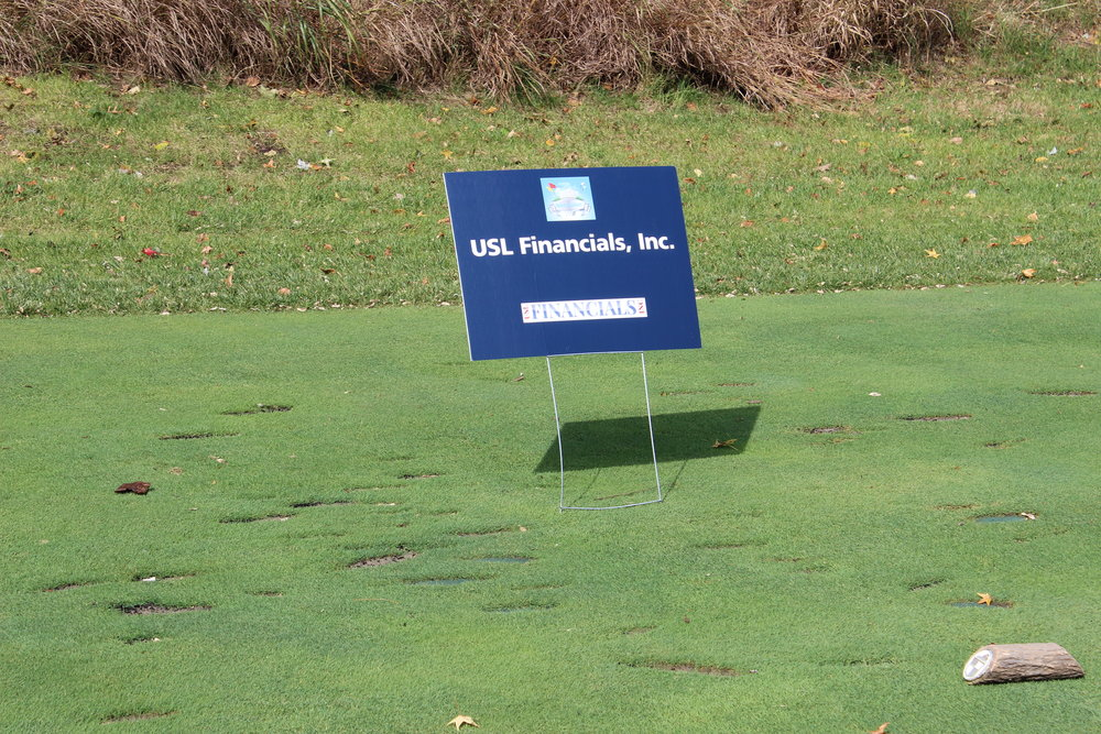 USL Finanicals, Hole Sponsor.