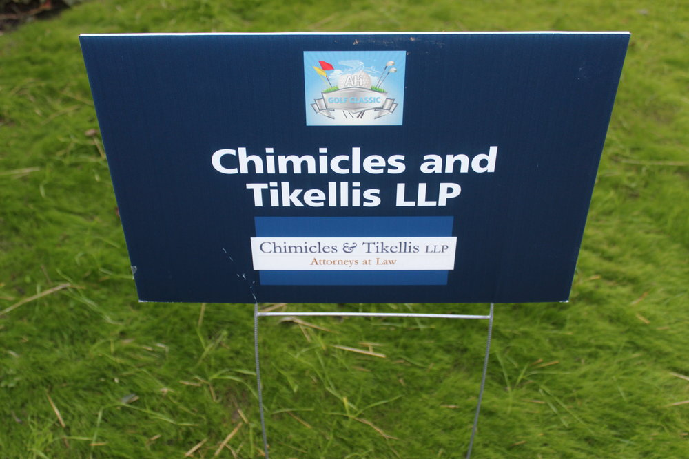 Chimicles & Tikellis LLP, Golf Cart Sponsor.