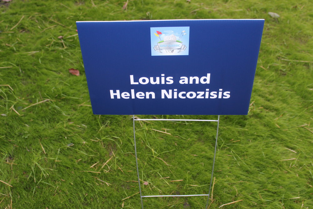 Louis & Helen Nicozisis, Golf Cart Sponsor.