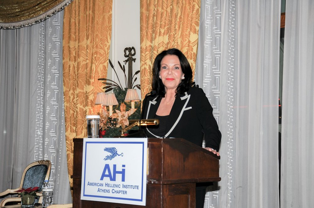 Ms. Katerina Panagopoulos speaking to audience