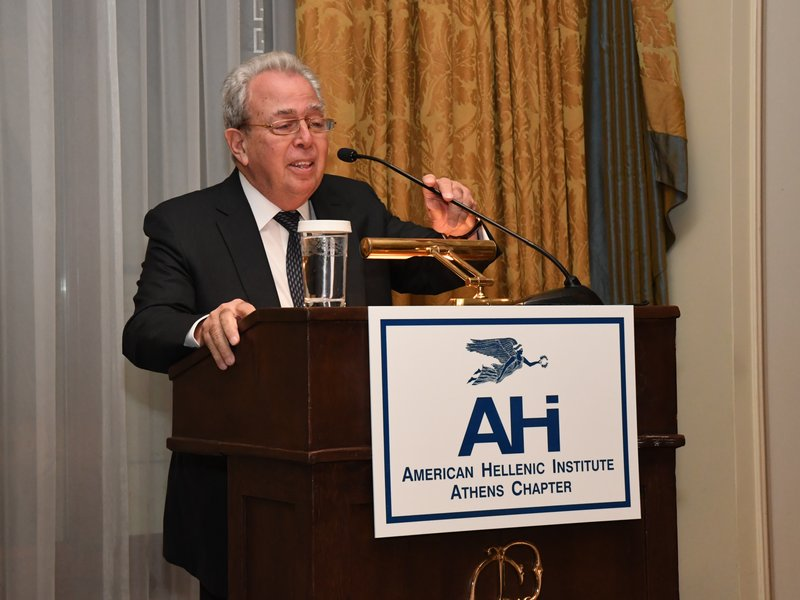 AHI-Athens Chapter President, George Economou, Speaking To the Audience