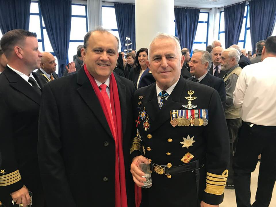 President Larigakis With Admiral Evangelos Apostolakis, the Chief of the Hellenic National Defence General Staff