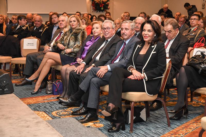 (L-R) Vice-Admiral Kyriazis, Ms. Emi-Livaniou, Ms. Fani Palli-Petralia, Mr. George Economou, Mr. Yannis Maniatis (MP For Argolida--Democratic Coalition), & Katerina Panagopoulos