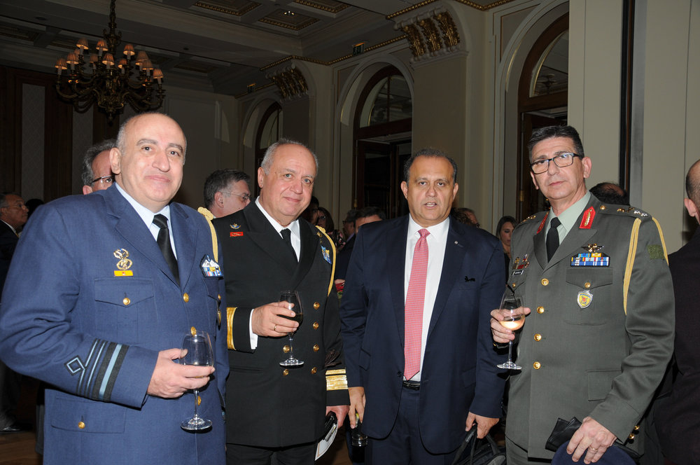 President Larigakis With Members Of The Greek Military