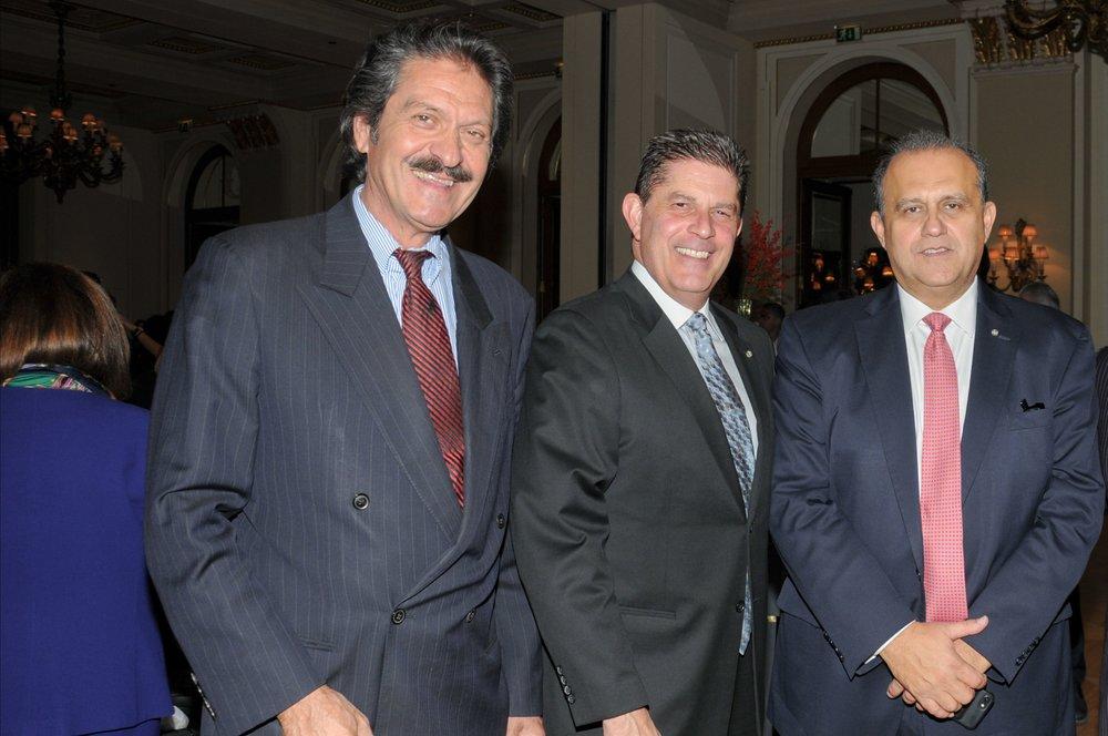 Nick Larigakis With AHI Board Member Kostas Alexakis & AHI-California President Paul Sogotis
