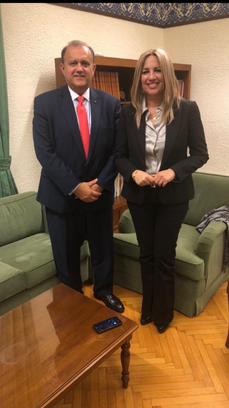 President Larigakis With Fofi Gennimata, President Of The Movement for Change (Formerly PASOK)