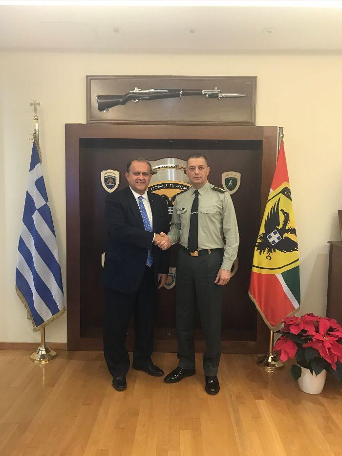 President Larigakis With Lt. Gen. Alkiviadis Stefanis, Chief, Hellenic Army General Staff