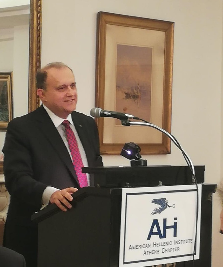 AHI President Larigakis Greeting The Guests