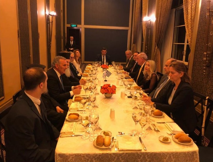 The Cypriot & Greek Delegations Host A Dinner For His Beatitude Patriarch Theophilos III of Jerusalem & All Palestine