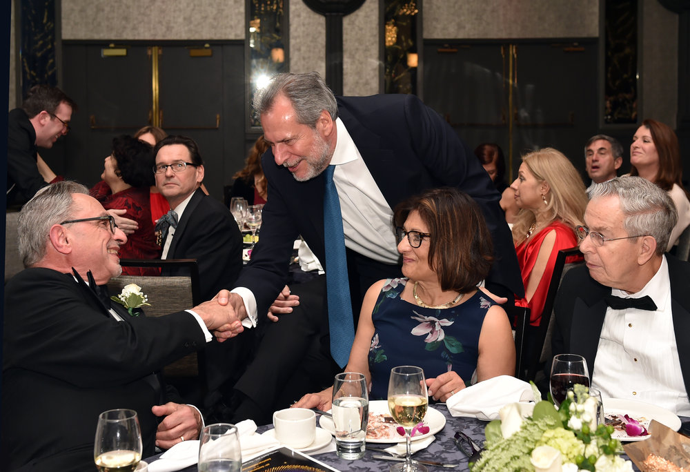 World Bank Group Board Advisor to the Executive Director, Former EU Commissioner and Minister of Greece Christos Papoutsis congratulating Honoree Ambassador Patrick Theros