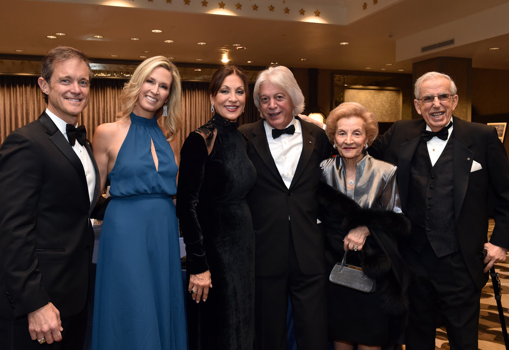Eleni and Dimitris Bousis with Mike Manatos with wife Laura Evans, Bill Hunter and his wife.