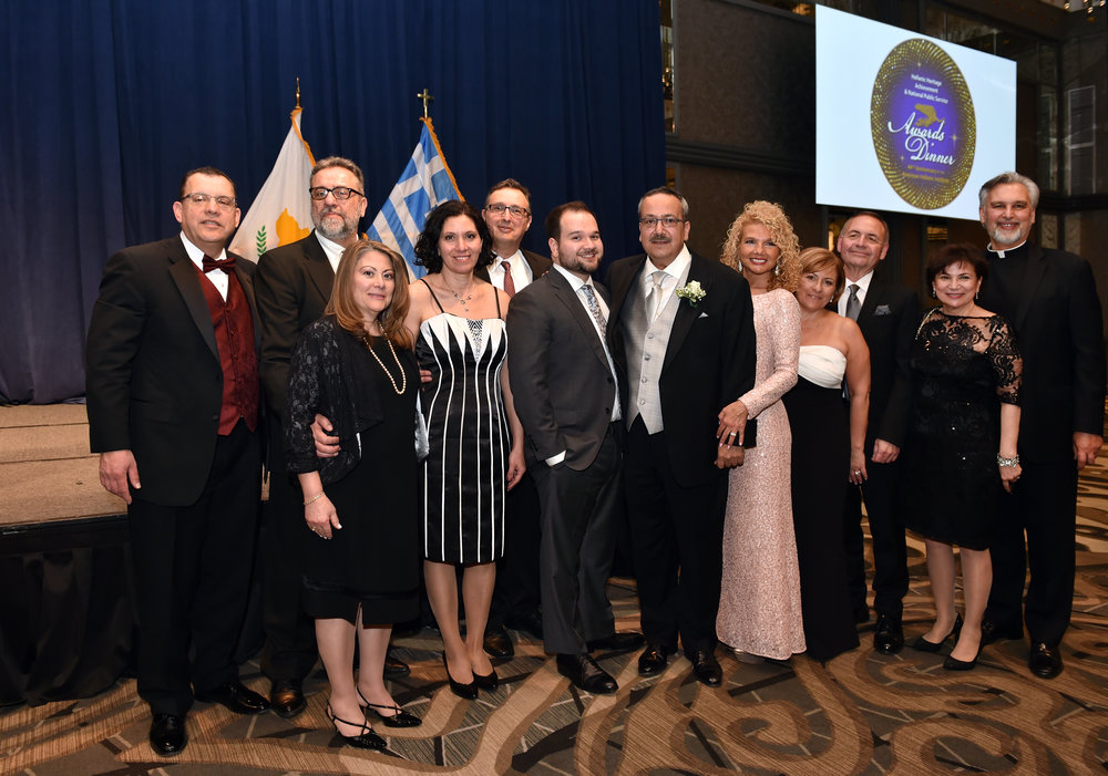 Honoree Dr. Spiro Spireas with friends and family