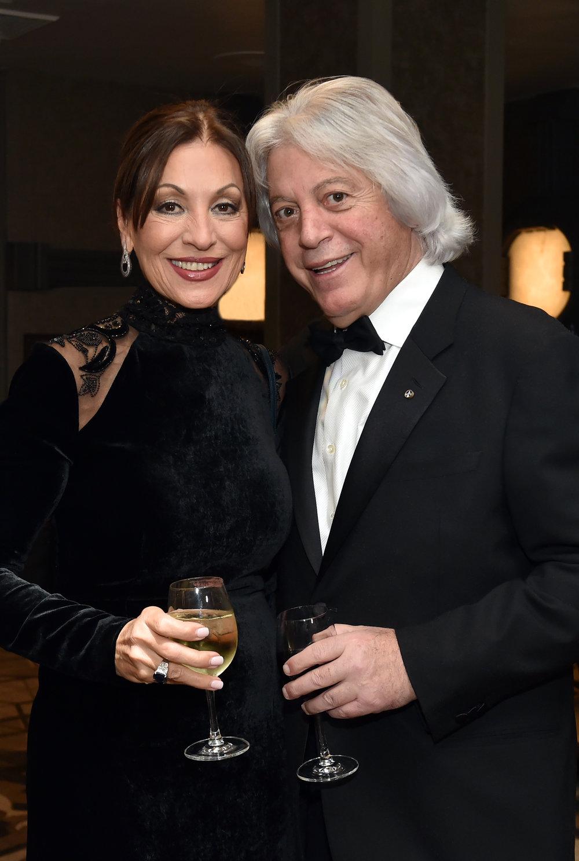 Eleni Bousis with her husband Dimitris Bousis