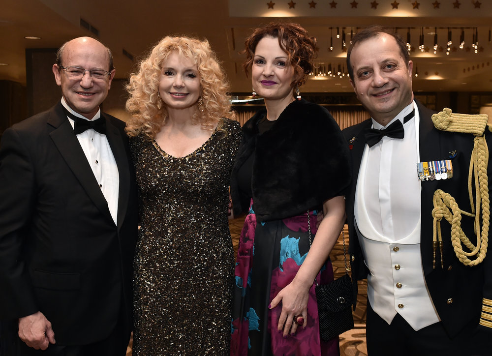 AHIF President Costas Galanis with his wife Sophia Galanis and the Naval Attache of the Greek Embassy, Captain Charalampos Pegklidis with his wife Lithari.
